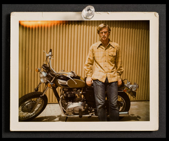 Me in 1971 with my Triumph Bonneville